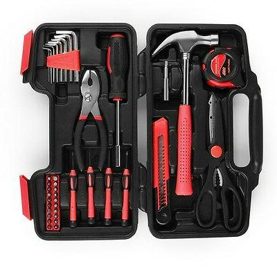 Tool Set Box Hand Tool Kit & Accessories For Household DIY H