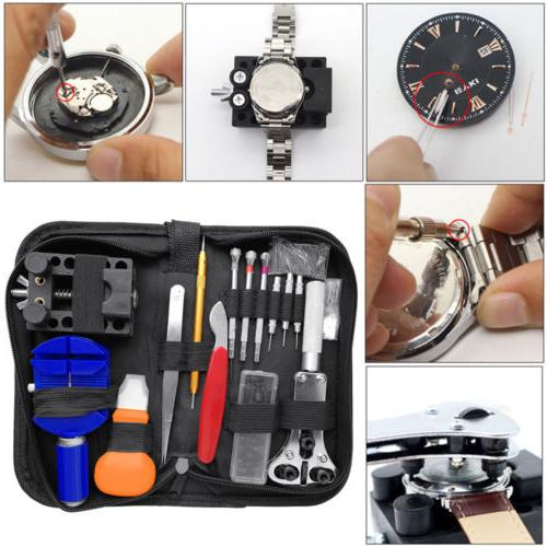 Watch Repair Kit Watchmaker Back Case Opener Link Remover Sp