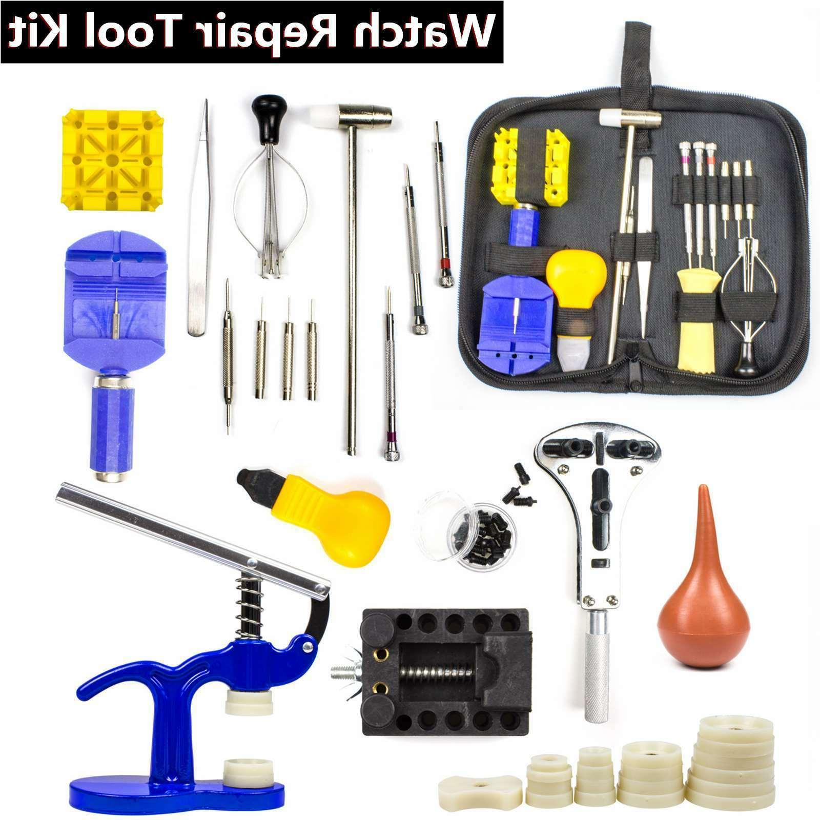 Watch Repair Tool Kit Case Opener Link Remover Spring Bar Sc