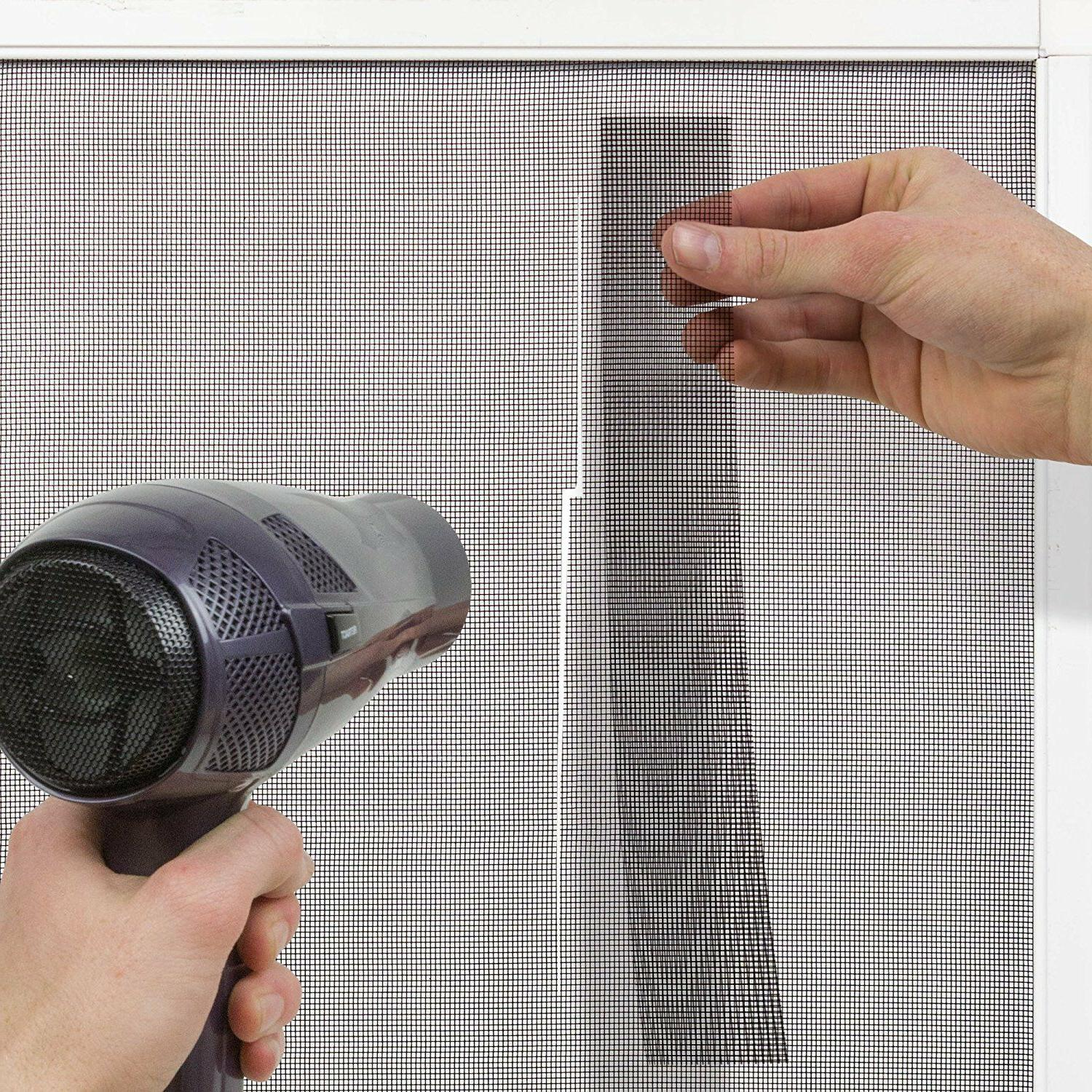 "Window Screen Kit 60 Easy 2"" x 80"" Uses Durable"