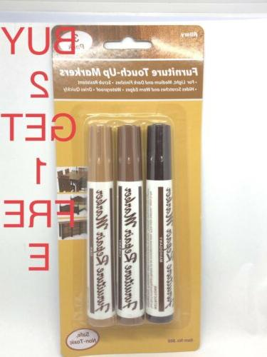 3 Pcs Wood Furniture Repair Markers Touch Up Kit Scratch Rep