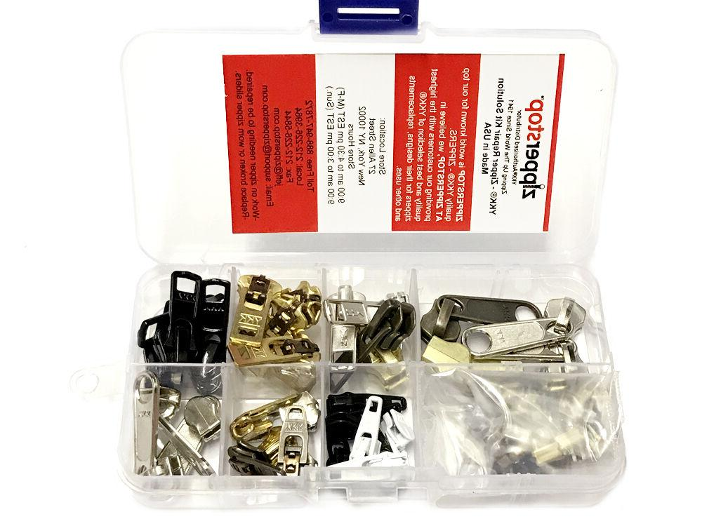 YKK Zipper Repair Kit Solution Clothing or Outdoor Pulls Pac