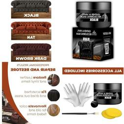 Leather Repair Kit FOR Couches Black Recoloring Balm BEST AN