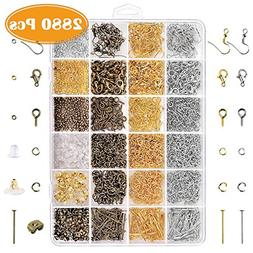 Paxcoo 2880 Pcs Jewelry Making Findings Supplies Kit with Op