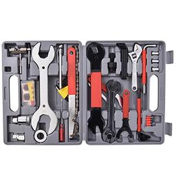 Goplus 44 PC Multi-Function Bike Bicycle Repair Tools Tool K