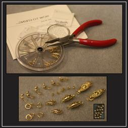 Necklace Bracelet Bead Stringing Starter Repair Kit- clasps