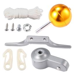 "Newly Flag Pole Parts Repair Kit 2"" Dia Truck Pulley Gold Ba"