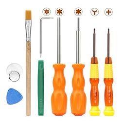 MoKo Repair Tool Kit for Nintendo, 9 in 1 Professional Screw