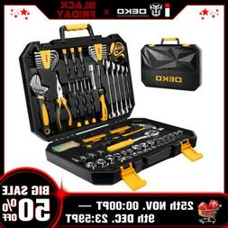 DEKOPRO 128 Pieces Tool Set Auto Repair General Household Ha