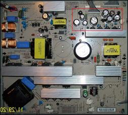 Repair Kit, LG 37LC7D, LCD Monitor, Capacitors, Not the Enti