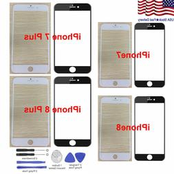 """For Replacement iPhone 7 Plus 8 Plus 5.5"""" Front Outer Glass"""