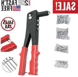 Rivet Gun Set Heavy Duty Hand Tool Pop Riveter Kit Gutter Ca