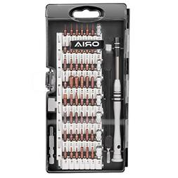ORIA Screwdriver Set, Magnetic Driver Kit, S2 Steel 60 in 1