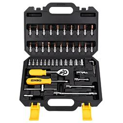 DEKOPRO 46 PCS Tool Set Socket Wrench Mixed Auto Repair Hand
