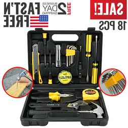 Tool Set Kit Mechanic Hand Tools Socket Screwdriver Basic Ho