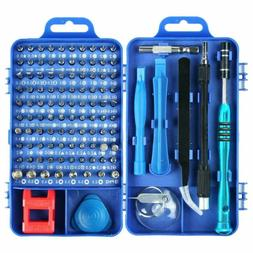 US 115Pcs Screwdriver Maintenance Repair Set Kit Magnetic El
