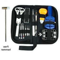 13 PCS Watch Repair Tool Kit Case Opener Link Remover Spring
