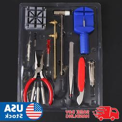 Watch Repair Tool Kit Band Pin Strap Link Remover Back Opene