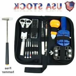 Watch Repair Tool Kit Opener Link Remover Spring Bar Free Ha