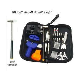 Watch Repair Tool Kit Case Opener Link Remover Spring Bar To