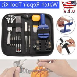 Watch Repair Tool Kit Case Opener Link Remover Spring Bars T