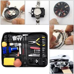 Watch Repair Tool Kit Watchmaker Back Case Link Remover Open
